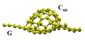 The new hybrid nanostructures formed by graphene sheet and C60-fullerene fragment were studied using density functional theory