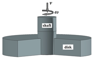 A stress-strain state computer simulation of samples imitating bimetallic «disk-shaft» type parts for a gas turbine engine from dissimilar heat-resistant nickel-based superalloys during pressure welding with a shear was carried out. Two shaft motion schemes were considered: the shaft into the disk introduction, and the combination of the introduction and rotation of the shaft. It has been established that to obtain solid phase joint between the shaft and the disk, it is preferred to use pressure welding when the introduction and rotation of the shaft.