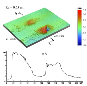 """An important distinctive feature of the frictional treatment of the composite NiCrBSi-Cr3C2 coating is to obtain a smoothed surface with protruding 2-5 microns chromium carbides Cr3C2, which form a high-strength supporting """"island frames""""."""