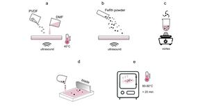 Технологическая схема получения полимерного композита Fe-Rh/PVDF
