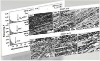 Исследовано влияние температуры равноканального углового прессования в интервале от 0.45 до 0.75Тпл на процессы измельчения зерен в сплаве Al-3%Cu. Повышение температуры приводило к увеличению среднего размера новых зерен, снижению среднего угла разориентировки межкристаллитных границ и смещало формирование мелкозернистой структуры в область более высоких степеней деформации.