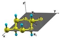 В рамках теории функционала плотности разработан метод уточнения начального профиля квазибризера в пространстве смещений всех атомов системы. Метод опробирован с помощью процедуры построения дискретных бризеров в графане.