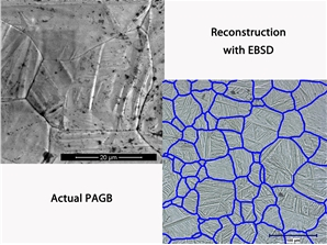 Reconstruction of prior austenite grain boundaries and its verification by the thermal etching in vacuum